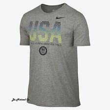 Nike Men's 2016 USA Olympic Marathon Trials T-Shirt L XL Gray Gym Casual Tee New