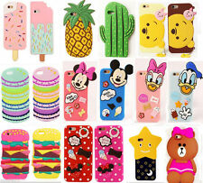 New Cartoon Disney Soft Silicone Rubber Case Cover Skin For iPhone 5G/6G/S 6P UK