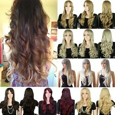 Hot Full Wigs Long Curly Straight Cosplay Party Daily Fancy Dress Sexy Lady F18
