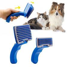 Pet Dog Cat Grooming Self Cleaning Slicker Hair Fur Brush Comb Shedding Tool 1BA