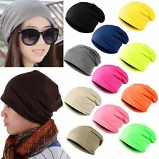 Womens Men Winter Beanies Solid Color Hat Crochet Skull Knit Cap Touca Gorro Cap