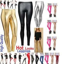 "Sexy Shiny ""SHADOWS"" Wet Look Full Length Leggings Metallic Sizes  ** WtLg"