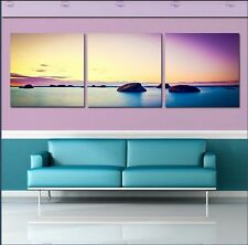 Large Frame picture sunset beach Painting Canvas Modern Home Decor Wall Art Room