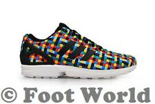 Mens Adidas ZX Flux Weave - S82749 - Black Multi White Trainers
