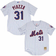 Mitchell & Ness Mike Piazza New York Mets White Authentic Jersey