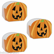 8 Halloween Spooky Orange Pumpkin Party Loot Gift Treat Paper Favour Boxes