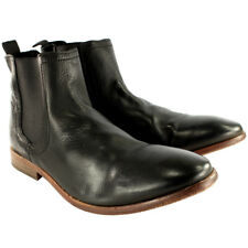 Mens H By Hudson Patterson Smart Pull On Leather Chelsea Boots New UK Sizes 7-13