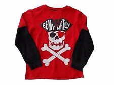 NWT Boy's Gymboree Fun At Heart matey skull red long sleeve shirt ~ 6 7 8