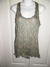 FREE PEOPLE Multi Print Racer Back Burn Out Tank Top Small