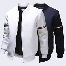 Mens Fashion Slim Casual Varsity Jacket College Letterman Baseball Coat Outwear