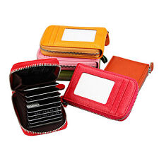 NEW  Mens/Womens Mini PU Leather Wallet ID Credit Cards Holder Organizer Purse E