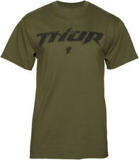 Thor Mens Olive Green/Black Roost Short Sleeve T-Shirt Tee 2017