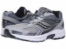 Saucony GRID COHESION 9 Mens Grey/Silver/Black Running Shoes