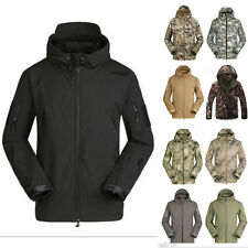 Outdoor Men's Jacket Thick Hooded Coat Jacket Soft Shell Hoodie Camping Hunting