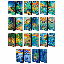 OFFICIAL DREW BROPHY SURF ART 2 LEATHER BOOK CASE FOR SAMSUNG GALAXY TABLETS