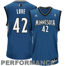 adidas Kevin Love Minnesota Timberwolves Slate Blue Replica Road Jersey
