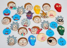 Rick and Morty series characters heads iron-on embroidery patches set FREESHIP