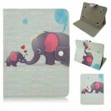 "7"" 7.9"" 8"" 9.7"" 10"" 10.1 Tablet Universal Leather Stand Case Cover cute elephant"