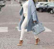 ZARA HAND MADE WOOL COAT SKY BLUE XS-L REF. 4070/022