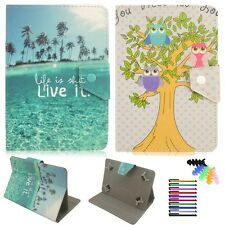 """Universal PU leather flip case Flip folio stand cover for 7 7.9"""" android tablet"""
