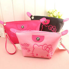 Women Portable Hello Kitty Cosmetic Bag Makeup Case Travel Case Toiletry Pouch