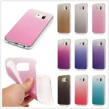 Luxury Bling Glitter Gradient Soft TPU Gel Clear Bumper Case Cover For Samsung