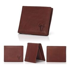 Men's Vintage Genuine Leather Bifold Coin Wallet Money Card Holder Clutch Purse