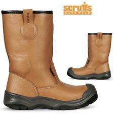 MENS Scruffs GRAVITY LEATHER WORK SHOE SAFETY STEEL TOE CAP RIGGER BOOTS SZ 7-12