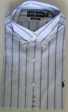 NWT Ralph Lauren Dress Shirt Light Blue/Navy/White 17 * 32/33 * 34/35 * 36/37