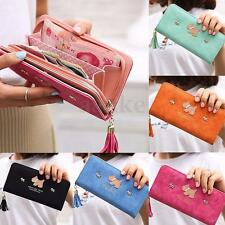 Women Ladies Leather Wallet Phone Credit Card Holder Purse Billfold Clutch Clip