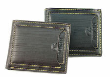 Mens Black Brown Leather Wallet Pockets Card Clutch Folding Clip