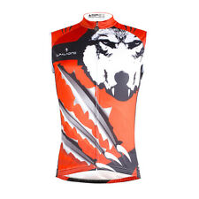 Men Cycling Clothing Vest Sleeveless Jersey Quick Dry Breathable Pockets PW664