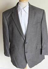 mens GREY PLAID FLANNEL SUIT JKT 44S TRS W38. L29 BY MARKS & SPENCER