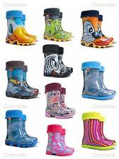 KIDS BOYS GIRLS CHILDREN WELLINGTON BOOTS WELLIES WINTER RAINY BOOTS UK 5-2.5