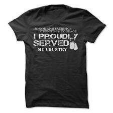 I Proudly Served - Military T-Shirt Cotton Soldier Army Navy Air Force Marines