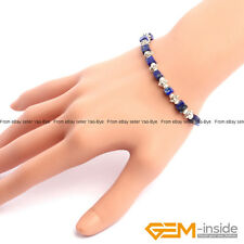 Handmade 4mm Cubic Beads Jewelry Beaded Bracelet  For Women & Men 7 1/2""