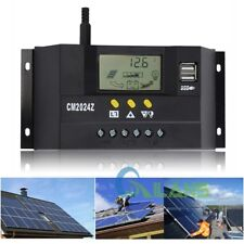 20/30/40A LCD Solar Panel Battery Regulator Charge Controller &USB Port 12V/24V