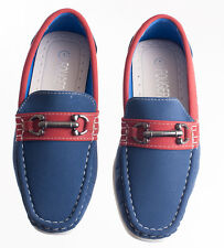 NEW Kids Royal Blue Fancy Boat Shoe Loafers for Toddlers and Boys