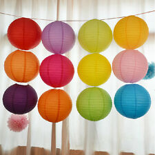 "Multicolor Chinese paper Lanterns Wedding Party Decoration 10"" 12"" 16""    SH"