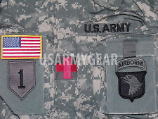 New US Army Military Acu Digital Combat Coat Uniform Shirt Top Jacket + Patches