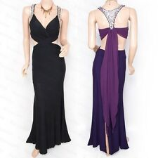Sexy Cross Sequined Backless Maxi Long Evening Party Dress