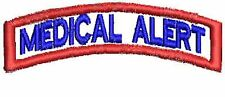Medical Alert Patch Service Dog Patch Rocker Up Dog Vest Patch Black White Red