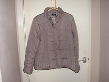 Jacket, padded, size 18, 'mink' colour, worn once only, M&Co