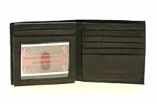 Mens Euro Hipster Wallet Genuine Leather Flap Up 2 Bill Sections 17 Card Slots