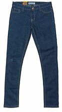 Womens Chisel Jeans Skinny Cool Ripped Knee Dark Blue Denim CJL-2002 - Sale