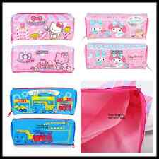 SANRIO HELLO KITTY MY MELODY RB NYLON PENCIL BAG ZIPPER BAG POUCH