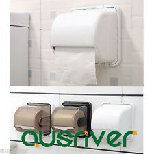 Brand New Suction Toilet Roll Paper Tissue Holder Bathroom Removable ABS Plastic
