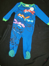 MUTANT NINJA TURTLES FOOTED ROMPER NWTS GRAPHICS FRONT / BACK 18-24 MTH