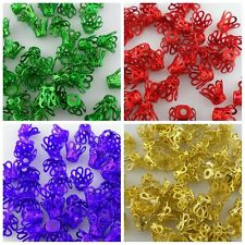200/2000pcs Aluminum flower Spacer Bead Caps DIY Jewelry Findings 6.5*8mm