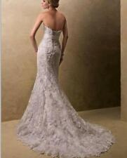 stock strapless lace mermaid  Bridal Wedding Dress gown  6/8/10/12/14/16